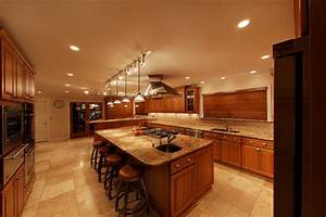 How do you decide where to place recessed kitchen lighting
