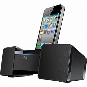 Dockingstation Iphone 4 : iluv stereo speaker dock for iphone ipod black ~ Sanjose-hotels-ca.com Haus und Dekorationen