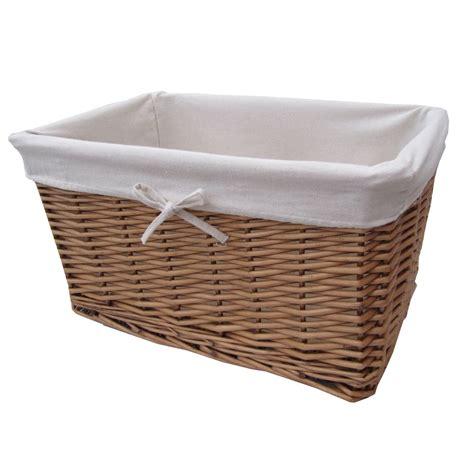 Basket Storage buy wicker lined storage basket from the basket