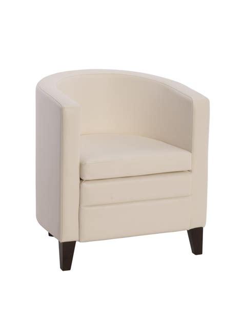 fauteuil simili cuir design pour reception oregon blanc
