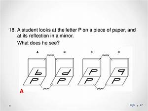 Explain Diagrammatically The Image Of Letter B In A Plane Mirror