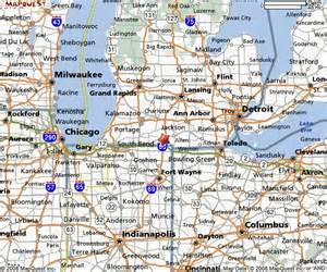 Michigan-Ohio IndianaMap