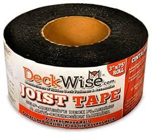 deckwise joist tape self adhesive deck flashing 3 quot x 75
