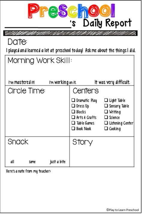 25 best ideas about preschool daily sheet on 114 | 6a0a415f3df950011b2751fac2667557