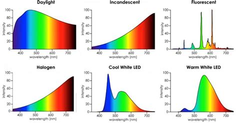 white led light and its possible wavelength spectrum