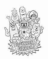 Gabba Coloring Yo Pages Sheet Plex Brobee Toodee Sheets Printable Friends Dj Muno Foofa Lance Yogabbagabba Tv Printables Books Princess sketch template
