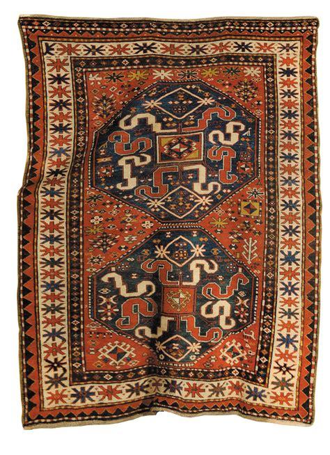 aste tappeti tappeto caucasico kazak a nuvole xix inizio xx