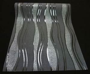 13191 30 1 rolle hochwertige vlies tapete coole retro With markise balkon mit schwarz silber tapete