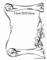 Coloring Mom Dear Mother sketch template