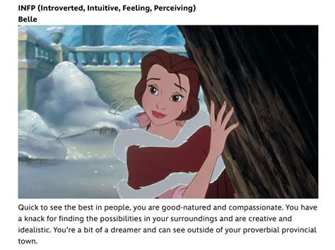 Infp Myers Briggs Personality Type Disney Character