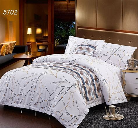 winter tree branch drawing hotel bedding sets cotton bed clothes home textiles quilt cover bed