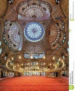 Interior Of The Sultan Ahmed Mosque In Istanbul, Turkey ...