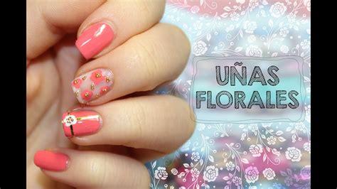 unas elegantes decoradas  flores youtube