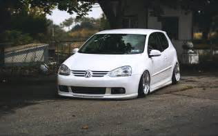 White Volkswagen Golf Car