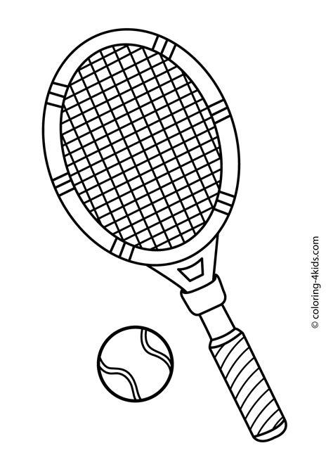 tennis sport coloring page  kids printable