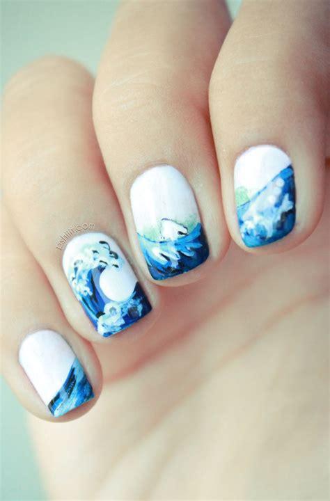 ocean nails nail art pinterest