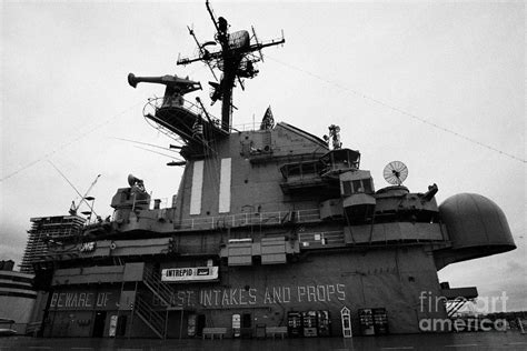 Flight Deck Island by Flight Deck Island And Bridges Of The Uss Intrepid At The