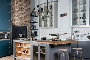 100 awesome industrial kitchen ideas for Deco cuisine avec chaise salon blanche
