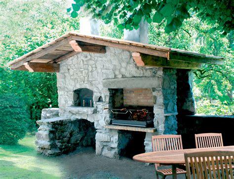cuisine au four à bois cheminées d 39 extérieur barbecue four à ils sont