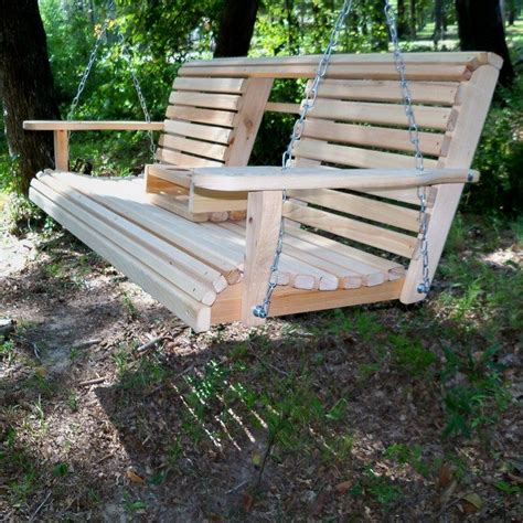 Outdoor Swing Bench by Build A Wood Porch Swing With Cup Holders Diy Projects