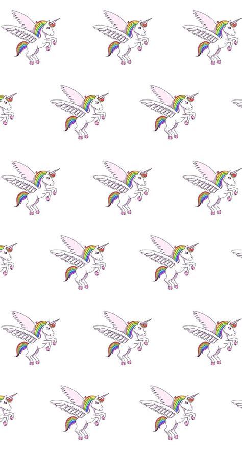 Iphone Home Screen Unicorn Wallpaper by Unicorn Pattern Find More Kawaii Iphone Android