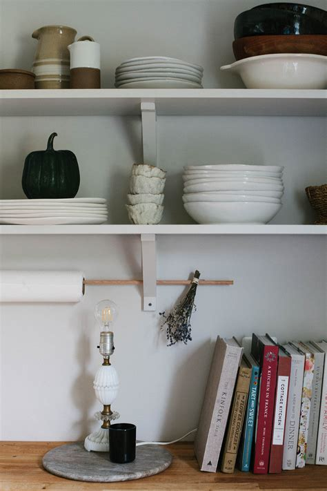 style open kitchen shelves  autumn  daily