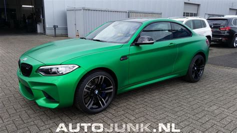 matte green bmw m2 looks stunning in matte green color