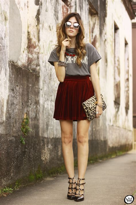 Red Velvet Skirt | FashionCoolture