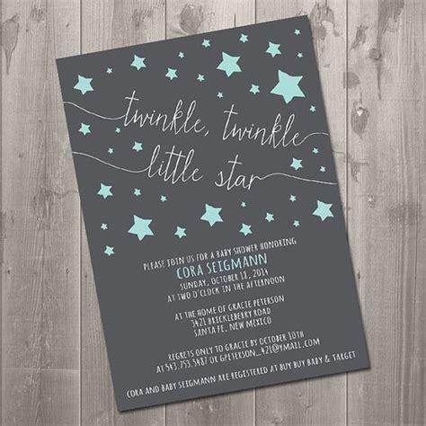 twinkle twinkle  star baby shower invitation diy