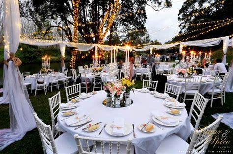 fairy lights wedding reception a light garden wedding