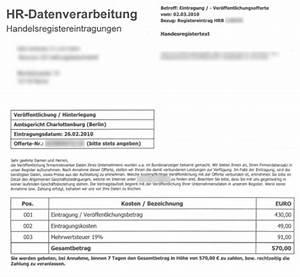 Fake Rechnung : existenzgr nder aufgepasst vorsicht vor dem fake handelsregister gr nderszene ~ Themetempest.com Abrechnung