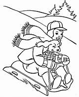 Coloring Winter Sledding Sheets Pages Printable Activities Activity Sports Fun Adult Christmas Sled Going sketch template