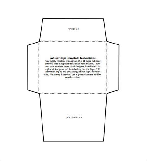a2 envelope template 9 small envelope sles sle templates