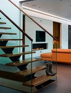 Elegant stair tread in Staircase Contemporary with