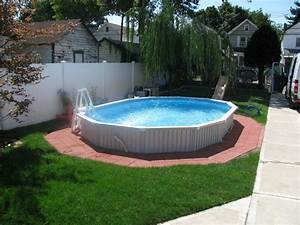 semi inground pool semi inground pool installations With in ground swimming pool designs