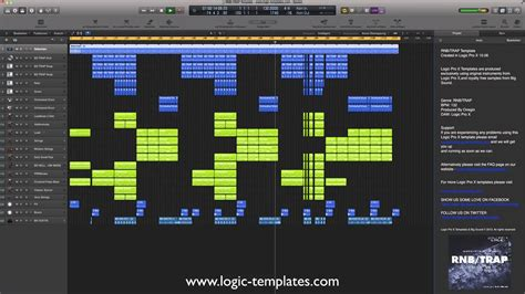 Trap 10 5 Template by Logic Pro X Template Rnb Trap Youtube