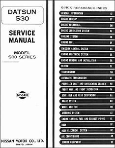 1974 Datsun 260z Repair Shop Manual Original