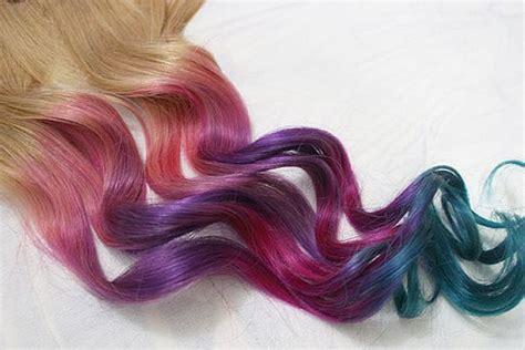Festival Hair Pastel Tie Dye Tips Human Hair Extensions