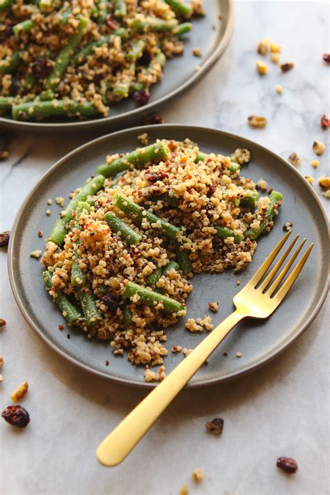green bean cranberry  quinoa salad   bowl