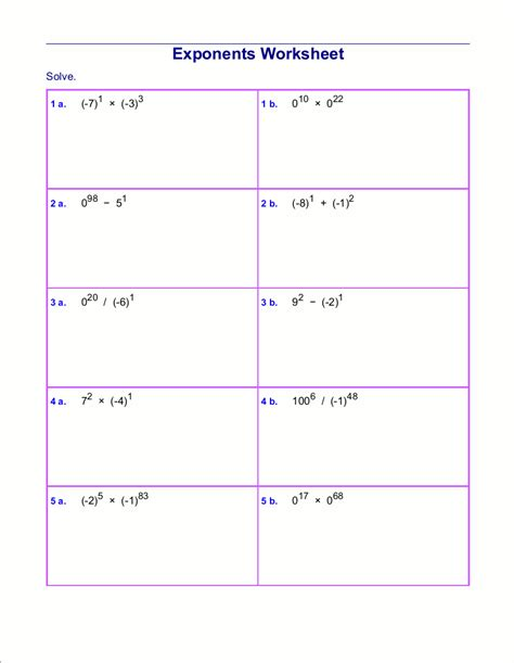 worksheet exponent worksheets grass fedjp worksheet