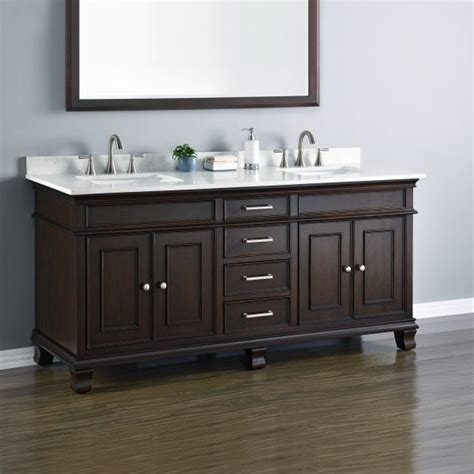 kitchens with wood cabinets camden 72 quot sink vanity mission furniture 8785