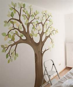 Baum An Wand Malen : kinderzimmer baum malen ~ Frokenaadalensverden.com Haus und Dekorationen