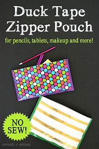 No-sew Zippered Duck Tape Pouch