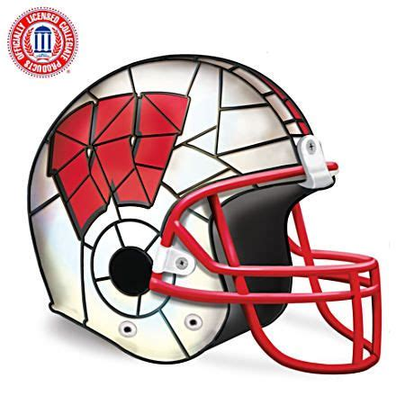 Wisconsin Badgers Officially-Licensed Football Helmet Lamp ...