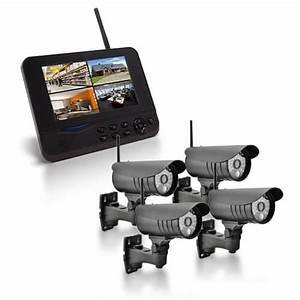 Camera De Surveillance Sans Fil Exterieur : camera ensemble cran 7 enregistreur avec 4 ~ Melissatoandfro.com Idées de Décoration