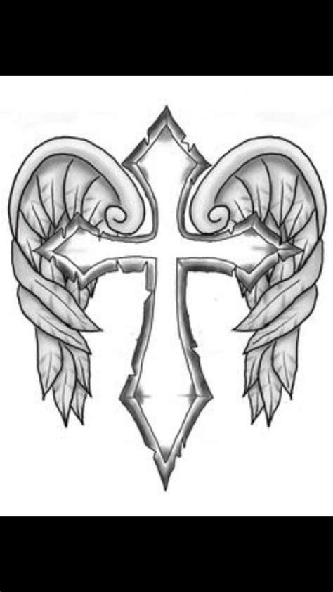 Cross with wings | Cross coloring page, Skull coloring pages, Fairy coloring pages