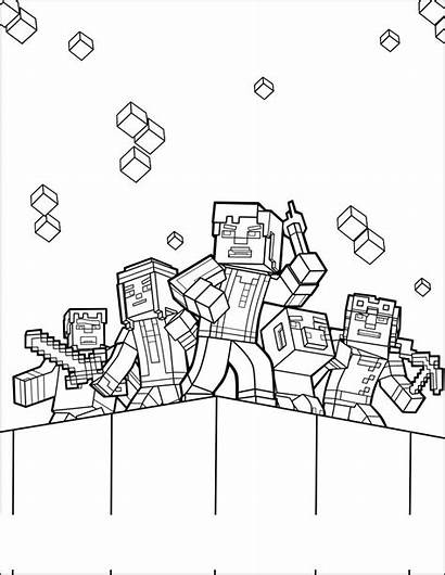 Minecraft Coloring Pages Title Fraternity Them Dragon