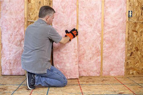 install insulation  open walls