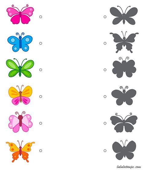 jeu des ombres  imprimer papillons pinterest