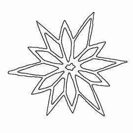 paper snowflake templates snowflakes pattern  print